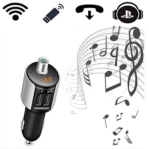 Clydekaoyan FM-zender voor in de auto, bluetooth, oproepen in handsfree systeem, muziekweergave Smart MP3-speler zonder Perdita/dubbele oplading, USB 3.4A mobiele telefoon Mssimo 32G