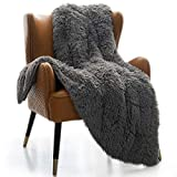 Mr.Sandman Faux Fur Sherpa Weighted Blanket for Full/Queen Size Bed, Super Soft Long Fur Throw Blanket for Bed Couch Chair Photo Props - 60'×80' 15lbs, Modern Grey