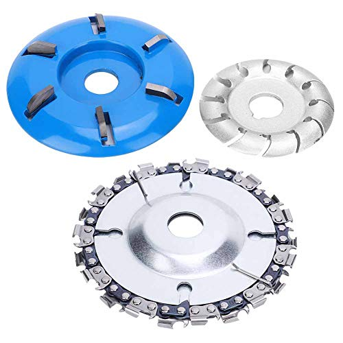 Wood Carving Disc and Grinder Shaping Disc Set, Circular Saw Blade Cutter Woodworking Grinder Shaping Cutting Tools Angle Grinder Attachments for Wood Cutting
