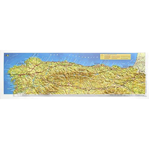 Mapa en relieve del Camino de Santiago Francés: Escala gráfica