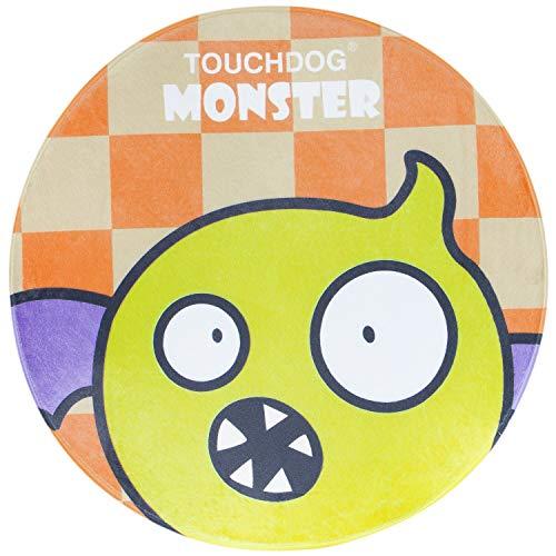 Touchdog Cartoon Flying Critter Monster - Alfombrilla redondeada para gato y perro, talla única, monstruo amarillo