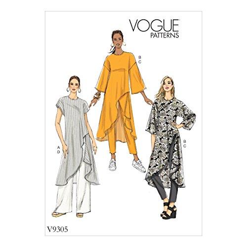 Vogue Mustern 9305Z Damen Hosen und Tunika, Tissue, mehrfarbig, 15x 0,5x 22cm