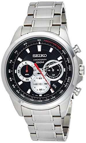 Seiko Orologio Cronografo Quarzo Uomo con Cinturino in Acciaio Inox SSB241P1