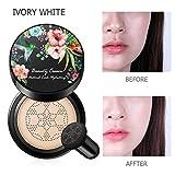 Peahop BB Air Cushion Foundation Mushroom Head Cream Hidratante Blanqueador Facial Maquillaje Corrector Air Cushion
