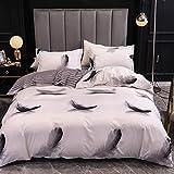 XUNGENG - Juego de cama de microfibra para adulto, 3 piezas, con funda nórdica y fundas de almohada, funda de edredón para 2 personas con cremallera, 220 x 240 cm