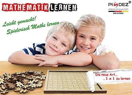 PISDEZ 1x1 lernen - Puzzle Kinderlernspiel aus Holz - Mathematik lernen - Brettspiele ab 6 Jahre - Mathe leicht gemacht
