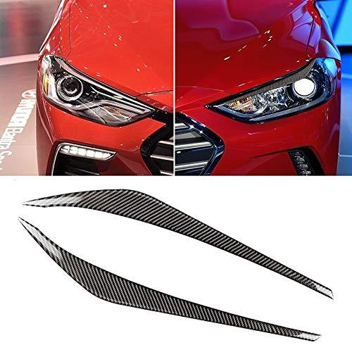 XUJINQI autolicht accessoire decoratief, auto-carbon-vezel licht wenkbrauwen, geschikt voor Hyundai Elantra 2016-2018