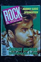 ROCK & FOLK 252 MAI 1988 COVER GEORGE MICHAEL HISTOIRE DE FAITH JOHNNY CLEGG BRUCE SPRINGSTEEN TALKING HEADS POSTER