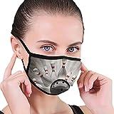 Bowling Ball Sport Vintage Face Mask Reusable Washable For Men Women Cute Design