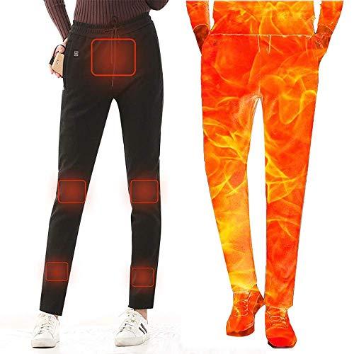 ZBHGF Elektrische radiator-broek voor dames, USB-verwarmde broek, intelligente temperatuurregeling, wasbare motor- en winterwarmer-vesten, XXXL