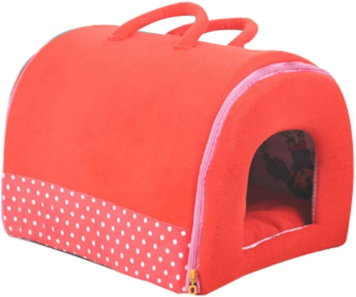 AYCC Pet House, Soft And Warm 2 In 1 Pet House, Skid Dog Bed, Portable, Collapsible Soft Winter Sleeping Bag,S