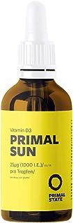 Vitamin D Liquid PRIMAL SUN (1000 I.E. per Drop | dissolved in coconut oil | Certified Vitamin D3) - 50ml