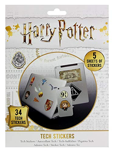 HARRY POTTER Pegatinas para Dispositivos electrónicos, Multicolor (Pyramid International TS7407)