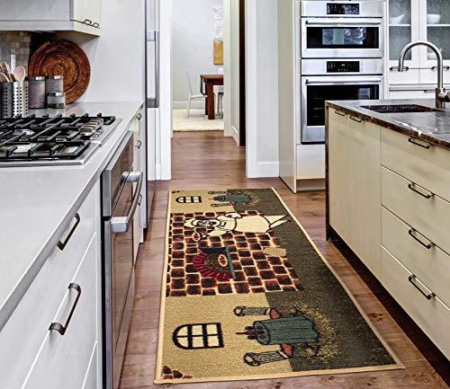 """Ottomanson Sara's runner rug, 20""""X59"""", Beige Kitchen Chef"""