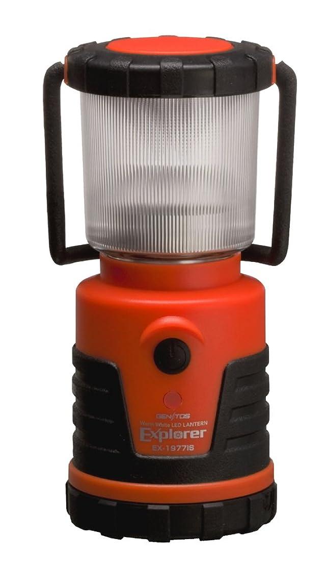 花輪増幅順番GENTOS(ジェントス) LED ランタン 【明るさ100ルーメン/連続点灯12時間/防滴】 エクスプローラー EX-1977IS ANSI規格準拠