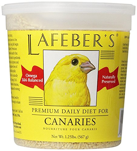 LAFEBER'S Premium Daily Diet Pellets Pet Bird Food, Made with Non-GMO and Human-Grade Ingredients, for Canaries, 1.25 lbs
