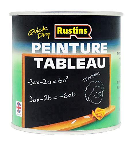 Rustins – Pintura para pizarra negra de secado rápido, 250 ml, 500 ml, 1 L y 2,5 L, negro