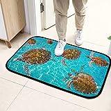 Alfombrillas para cocina Riviera Maya Turtles Photomount On Caribbean Alfombrilla para puerta para hombres 23.6x15.7inch (60x40cm) microfibra Lavable para jardín Oficina Cocina Comedor Living Living