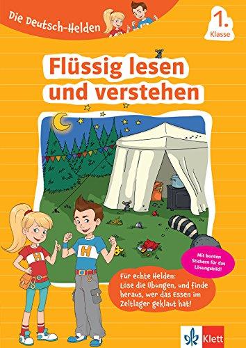Klett Die Deutsch-Helden Flüssig lesen und verstehen 1. Klasse: Grundschule Deutsch (mit Stickern)