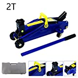 Trolley Jacks 2 Ton with Case Lifting Range 5.3-12.6inch Auto Car Van Garage Tyre Repair Tool Heavy Duty Floor...