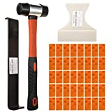 MOONWELL Laminate Flooring Installation Kit Including a Pull Bar, a Tapping Block, a Mallet and 40pcs Spacers
