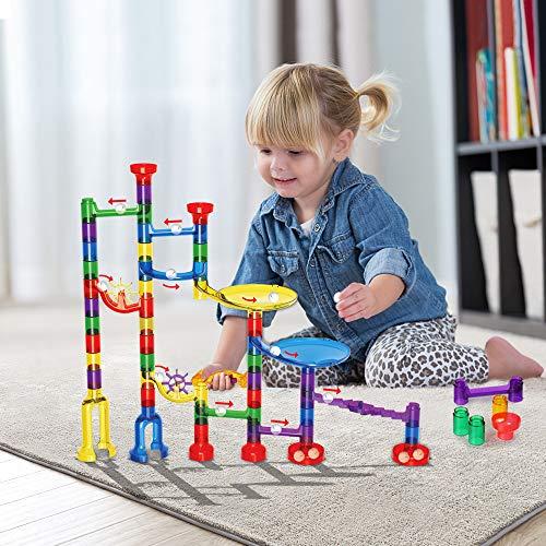 Innoo Tech Circuits de Billes, Jouets Enfants 3 Ans Toboggan à Billes 80pcs | Labyrinthe Billes Marble Run Jeux de Construction Cadeaux Enfants Anniversaire (Circuits)