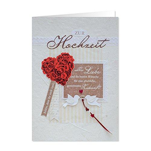 GRUSS & CO 90228 XL handmade Grußkarte, Hochzeit,