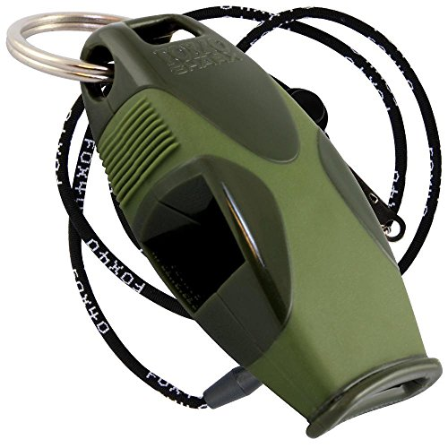 Fox 40 Sharx Whistle With Lanyard Referee-Coach, Outdoor, Safety, Dog-Green