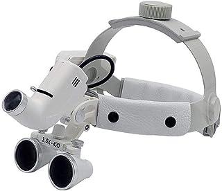 Dental LED Linterna Quirúrgica 3.5X420mm Lupa De Cuero Lupa Dental Lupas Binoculares Gafas Banda De Cabeza Lupa Lámpara Médica De Alto Brillo para Cirugía Vascular Implante Dental