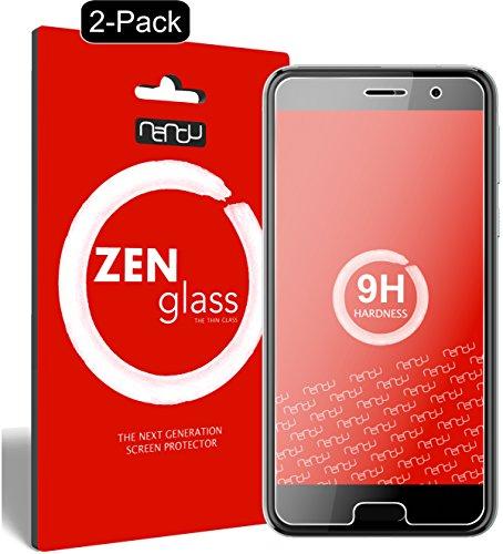 ZenGlass [2 Stück Flexible Glas-Folie kompatibel mit HTC U Play Panzerfolie I Bildschirm-Schutzfolie 9H I (Kleiner Als Das Gewölbte Bildschirm)