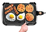 Chefman Electric Griddle, Fully Immersible and Dishwasher Safe Features, Adjustable Temperature Control Allows for Versatile Cooking and Removable Slide-out Drip Tray for Easy Cleaning, Black