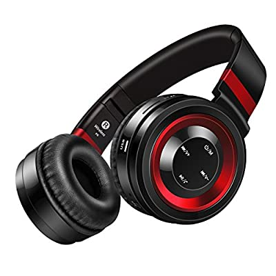 Sound Intone P6 Bluetooth Wireless Wired Headphones Over-ear Foldable Portable Music Bass Headsets with Microphone and Volume Control Soft Earpads for Cellphones Laptop PC Tablet Earphones ...