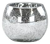 Deko Glas Crackle rund 1 Stück XL
