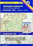 Wassersport-Wanderkarte / Kanu-und Rudersportgewässer: Wassersport-Wanderkarte 02. Deutschland West 1 : 450 000