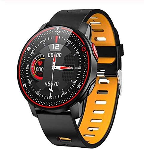 TYUI Reloj inteligente Bluetooth 5.0 para hombre y mujer, IP68, resistente al agua, monitor de frecuencia cardíaca, compatible con teléfonos Android e iOS