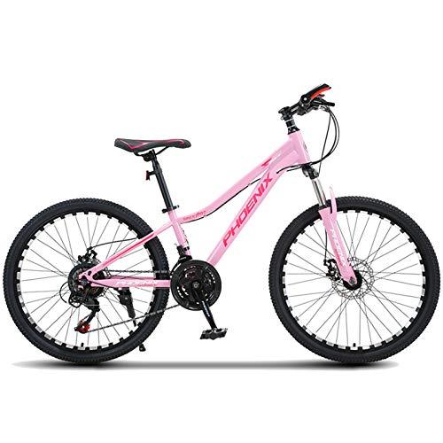 Axdwfd Infantiles Bicicletas Bicicleta para niños de 20 Pulgadas con Pedales para niños y niñas, Ruedas de Entrenamiento extraíbles, Frenos, 3 Colores (Color : Pink)