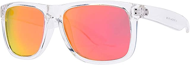 PZ Polarized Square Sunglasses Women Men - UV400 Gradient Color Mirror Lens- Retro Sports Beach