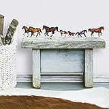 RoomMates RMK1017SCS Wild Horses Peel & Stick Wall Decals, Multicolor