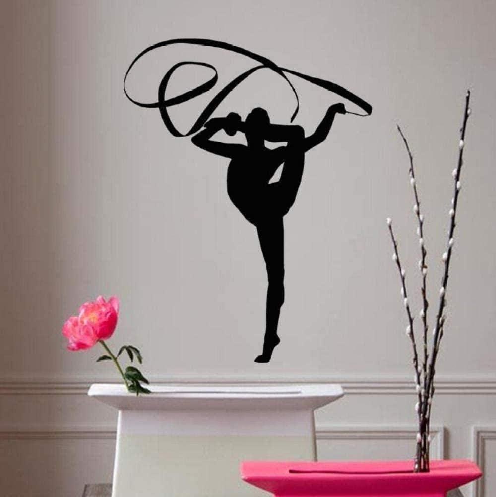 MAODU Classic Dance Girl Wall 5 ☆ San Antonio Mall very popular A Gymnast Ribbo Stickers with