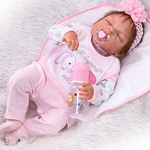 ZIYIUI 23' Full Body Silicone Vinyl Reborn Doll Lifelike Anatomically Correct Baby Girl Doll