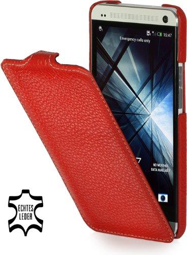 StilGut UltraSlim - Funda para HTC One M7, rojo