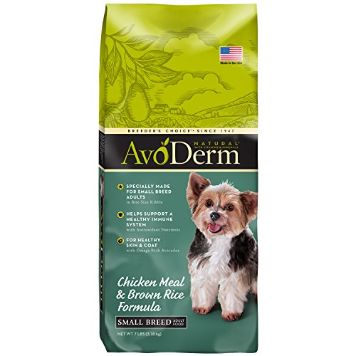 AvoDerm Natural Chicken Meal & Brown Rice Small Breed Adult Dry Dog Food 7lb