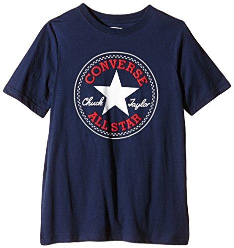 Converse Chuck Patch tee Camiseta, Azul (Marino), 13 años para Niños