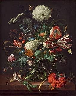Wall Art Print Entitled Jan Davidsz De Heem, Vase of Flowers by Celestial Images | 36 x 45