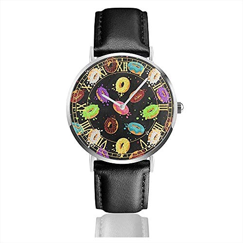 Donut with Pink Chocolate Lemon Woleather Watch Relojes de Cuarzo