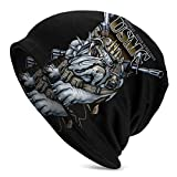 USMC Marine Corps Bulldog Skull Cap Sweat Wicking Cycling Beanie Cap Chemo Cap Dry Fit Sports Running Hat for Men Women Motorcycle Under Helmet Hard Hats Liner Hiking Exercise