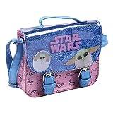 CERDÁ LIFE'S LITTLE MOMENTS 2100003344, Bolso Bandolera Infantil de Mandalorian con Licencia Oficial de Star Wars para Niñas, Azul, 18,5 x 14 x 5 cm