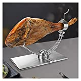 QTBH Jamonero 1 Set Pitter práctico Rack Decorativo de Acero Inoxidable para jamón, Rejilla de jamón, Herramientas de la Fiesta de la Cocina para el hogar Tabla Jamonera