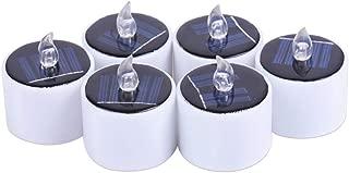 L/ámpara funeraria Solar con Sensor crepuscular 02 Piezas - Solar com-four/® 2X L/ámpara funeraria LED con luz Solar Vela Grave LED Eternal Light en Rojo