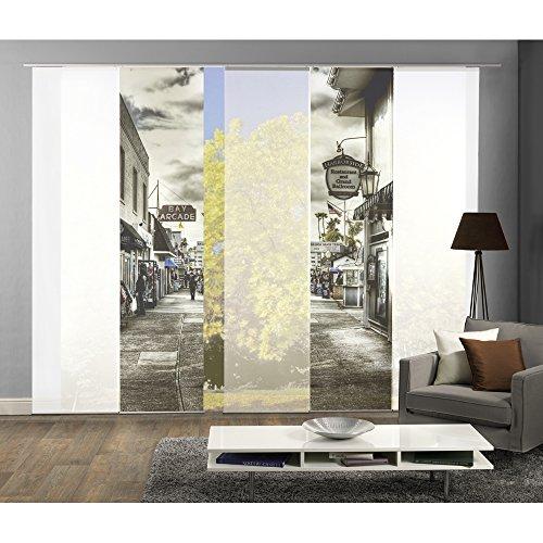 5er-Set Flächenvorhang | BALLROOM | Höhe 245 cm | 4x Dekostoff blickdicht/1x transparent